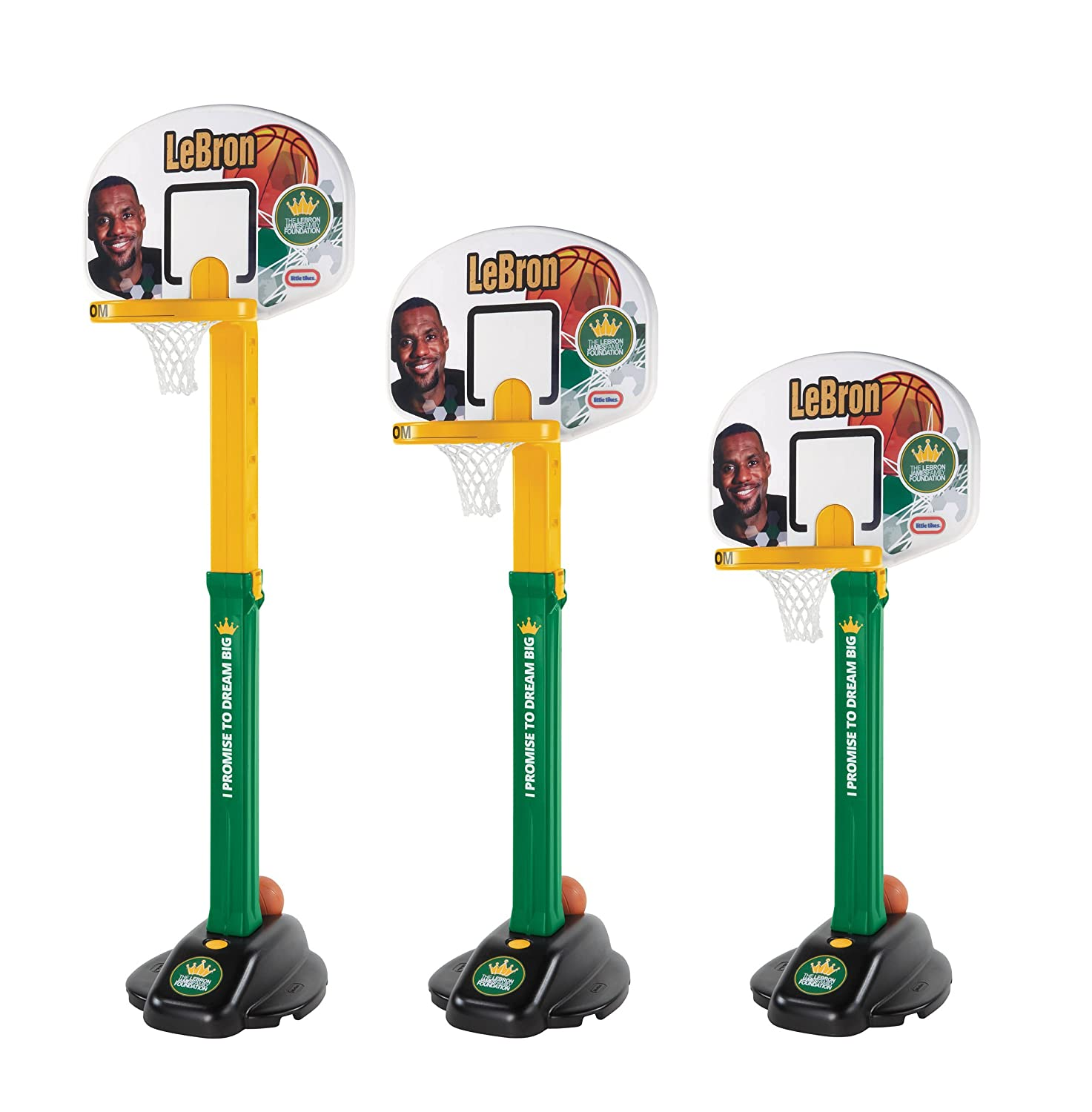 An Image of Little Tikes LeBron James Family Foundation - Dream Big Basketball Hoop