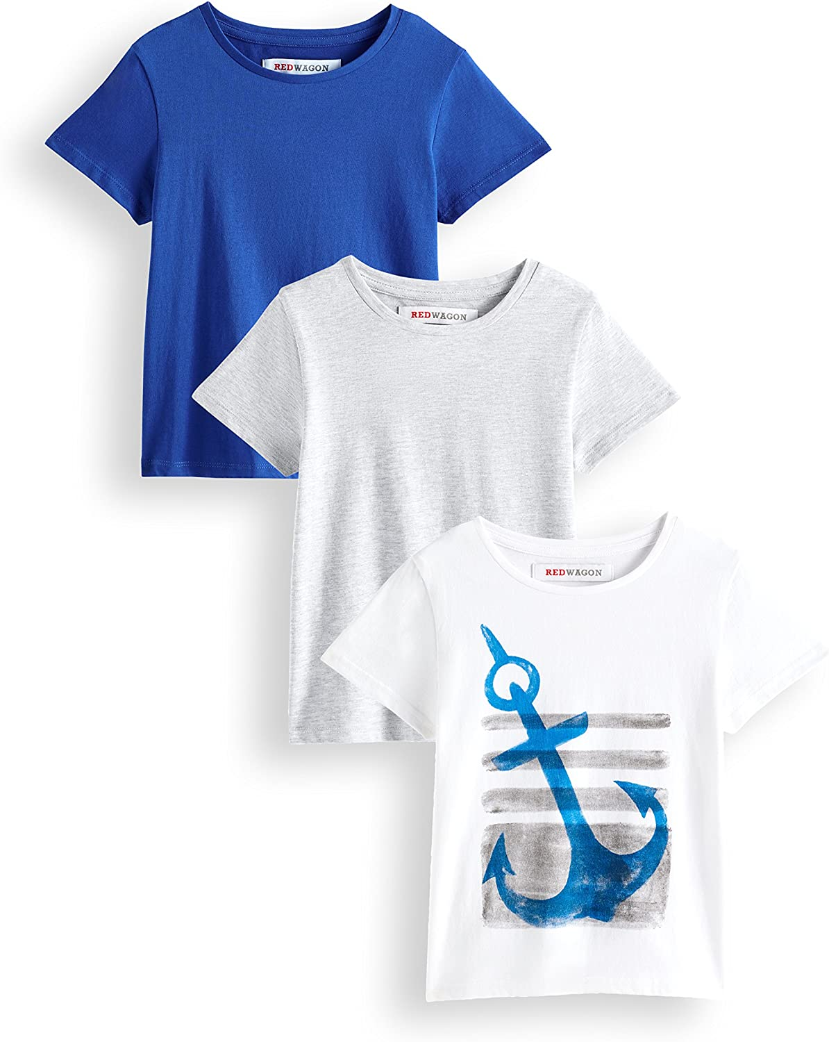 Pack of 3 Brand RED WAGON Boys Anchor T-Shirt
