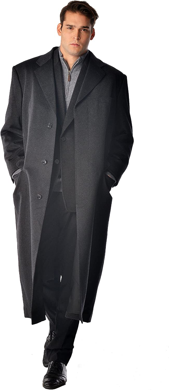 New Mens Black 100/% Wool Topcoat Overcoat Long Jacket Top Coat Over Coat