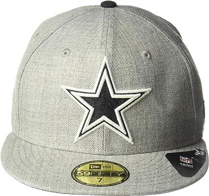 dallas cowboys new era nfl heather black white 59fifty cap