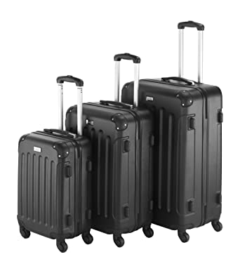 Amazon.com | VonHaus 3-Piece Luggage Set made from ABS - Large ...