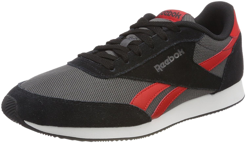 Reebok Royal CL Jogger 2, Zapatillas de Running Para Hombre 44.5 EU|Negro (Cp/Black/Ash Grey/Primal Red/White 000)