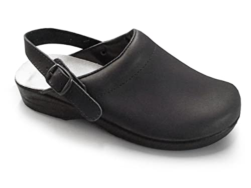 f581c75d4187fc Soldini Comfort Clog - Classic Italian Leather Nursing Clog for Healthcare  Professionals  Amazon.co.uk  Shoes   Bags