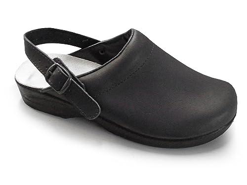 c320e8d6e7ac2 Soldini Comfort Clog - Classic Italian Leather Nursing Clog for Healthcare  Professionals: Amazon.co.uk: Shoes & Bags