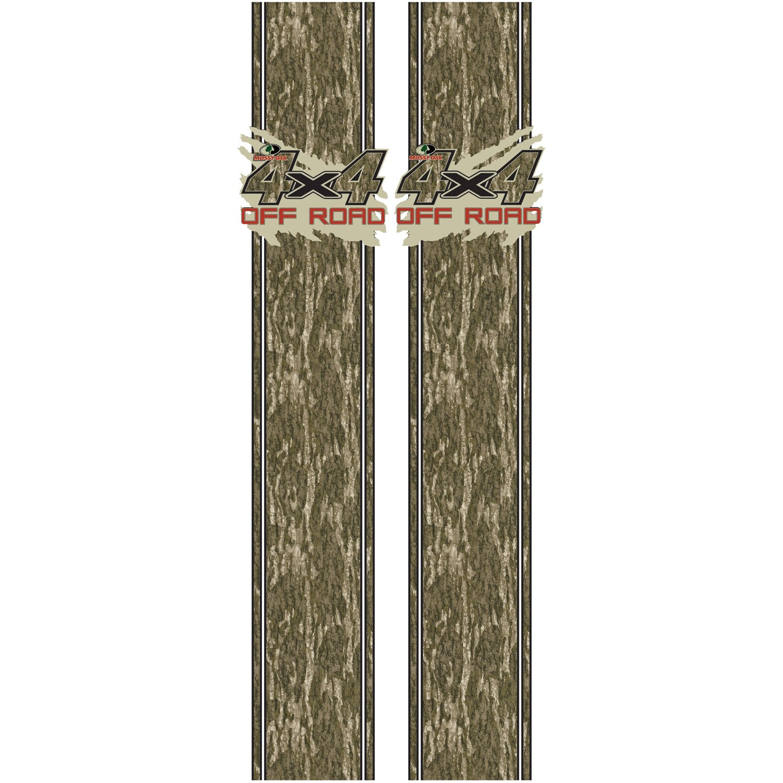 Mossy Oak Graphics 12010-BL Bottomland Mud Splash 4x4 Off Road Rear Quarter Panel Kit