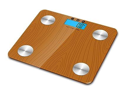 Kabalo color imitación a madera 180kg Capacidad electrónica digital multifunción Grasa corporal, composición corporal,