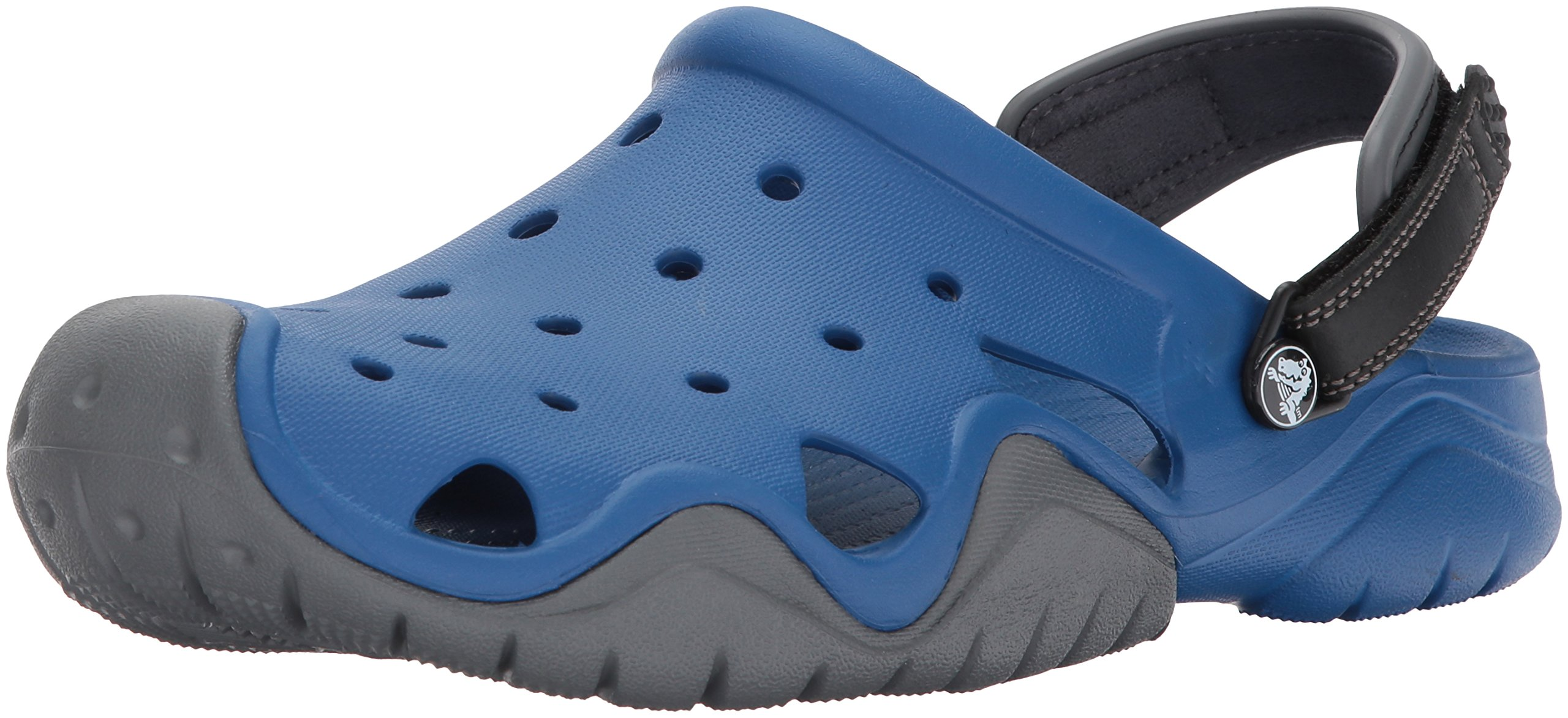 Crocs Men's Swiftwater Clog M Mule, Blue Jean/Slate Grey, 12 M US