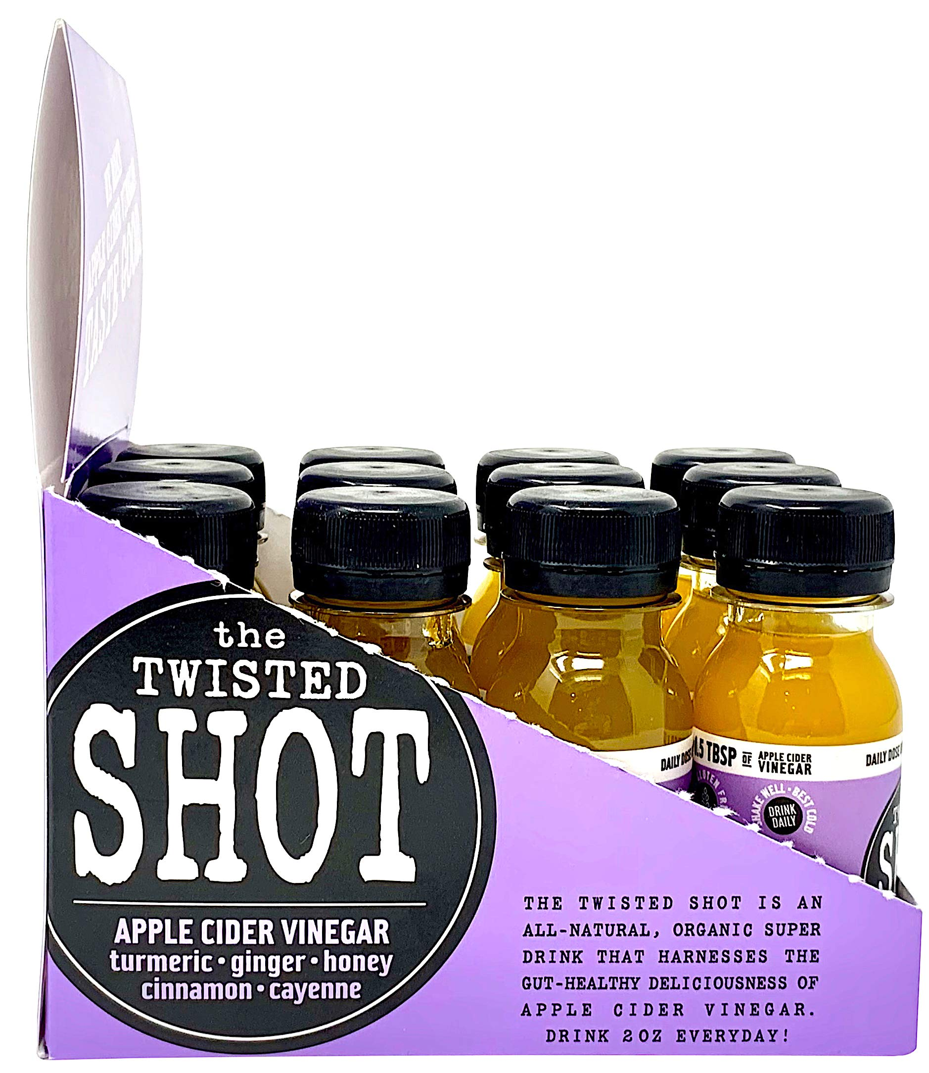 The Twisted Shot - Organic Apple Cider Vinegar shot with Turmeric, Ginger, Cinnamon, Honey & Cayenne - 48-pack of 2oz shots by The Twisted Shrub (Image #7)