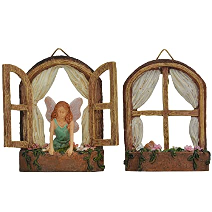 miniature garden fairy windows 2 piece set - Garden Windows For Kitchen 2