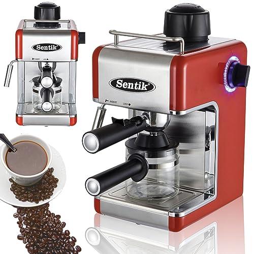Sentik Professional Espresso Cappuccino Coffee Maker Machine Home - Office (Red)