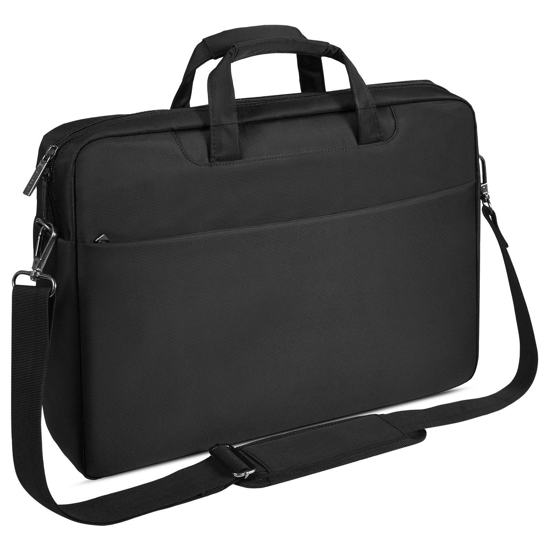 15.6 inch Laptop Briefcase Bag Messenger Bag Business Office Bag Compatible Acer Aspire E 15/Nitro/Predator/Chromebook 15, Waterproof Shoulder Bag Fits 15.6'' Notebook/Computer/Tablet/Men/Women, Black