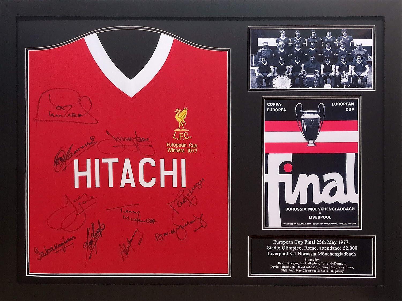 camisa final de la Copa de Europa Liverpool 1977 firmada por ...