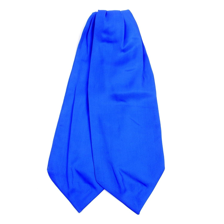Silk Solid Color Ascot Cravat Tie