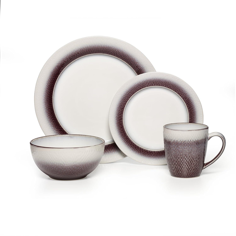 amazoncom pfaltzgraff eclipse plum 16piece stoneware round dinnerware set dinnerware sets - Pfaltzgraff Patterns