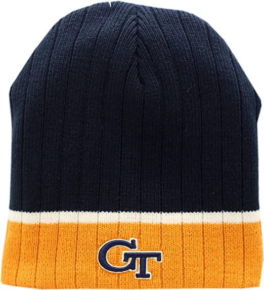 3083f5e6d28 Image Unavailable. Image not available for. Color  Georgia Tech Yellow  Jackets Skull Knit Hat Egghead