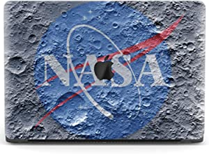 Mertak Hard Case for Apple MacBook Pro 16 Air 13 inch Mac 15 Retina 12 11 2020 2019 2018 2017 Girly Laptop Cool Protective Science Shell Plastic Clear Lunar Cover Moon Surface Print Texture NASA