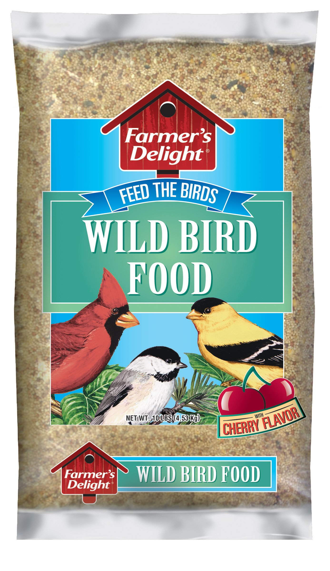Wagner's 53002 Farmer's Delight Wild Bird Food, With Cherry Flavor, 10-Pound Bag by Wagner's