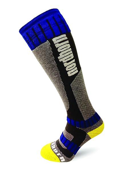 Nord Cuerno Calcetines de esquí/Snowboard Calcetines Transpirable Unisex kniestrümpfe con Acolchado Especial, Color