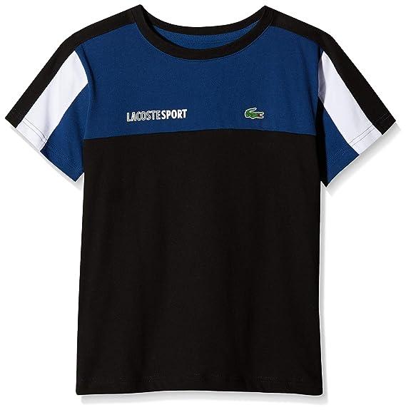 Lacoste Sport TJ1330, T-Shirt Garçon, Bleu (Encrier Noir Blanc Fz3 013a15f661e7