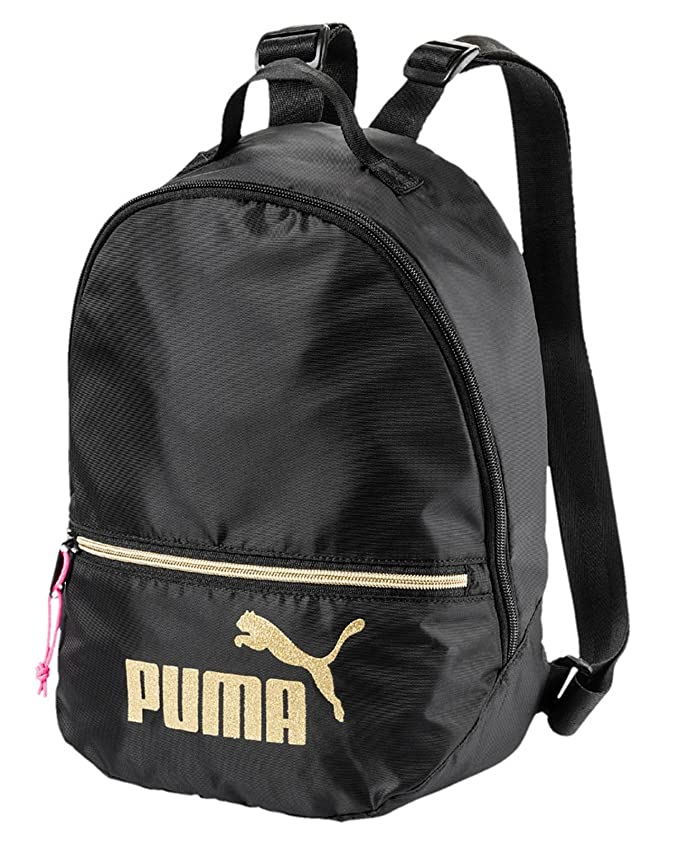 PUMA 75402, Backpack Mujer, Black-Gold, Talla única: Amazon.es: Deportes y aire libre