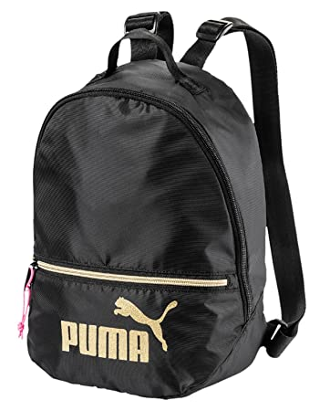 590d6d9cedc48 PUMA Damen WMN Core Archive Backpack Seasonal Rucksack Black-Gold ...