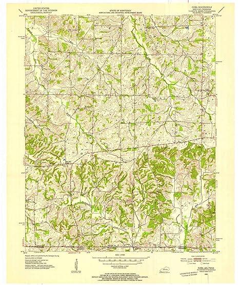 Amazon Com Yellowmaps Cuba Ky Topo Map 1 24000 Scale 7 5 X 7 5