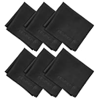 Microfiber Cleaning Cloths, Fosmon 4-Pack of Microfiber Cleaning Cloths [16 x 16 inches / 40.6 x 40.6cm] (Black)