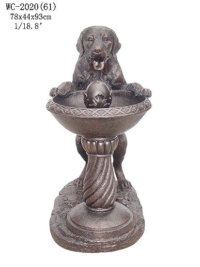 Beau Garden Outdoor Indoor Labrador Dog Statue Sculpture Water Fountain