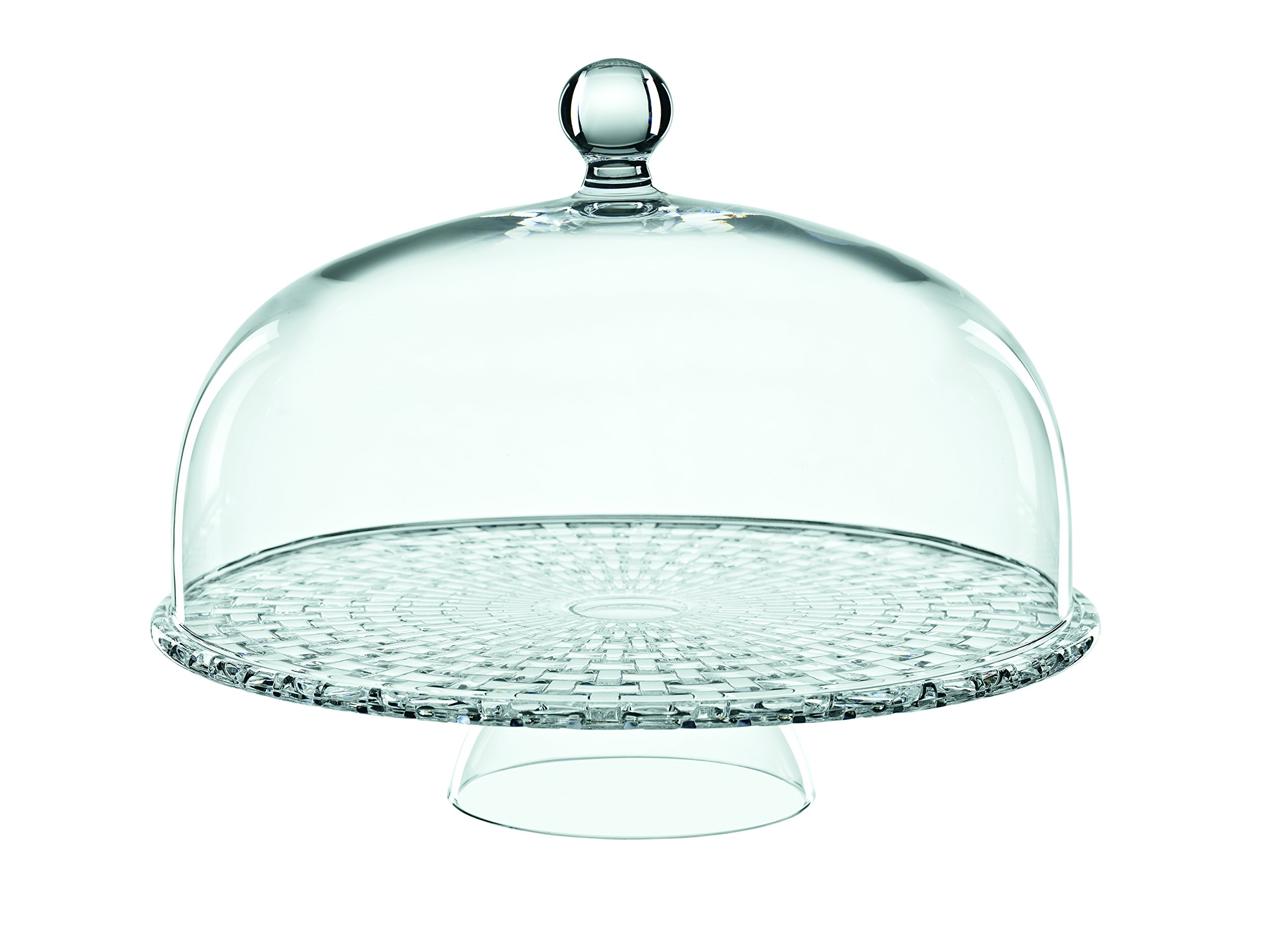 Nachtmann Boss Nova Tea Time Footed Cake Plate with Dome, Clear