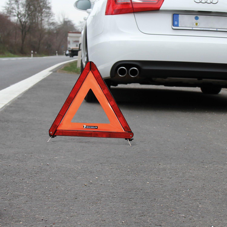 Michelin 92402 Warndreieck Ece Kunststoffköcher Zur Aufbewahrung Auto