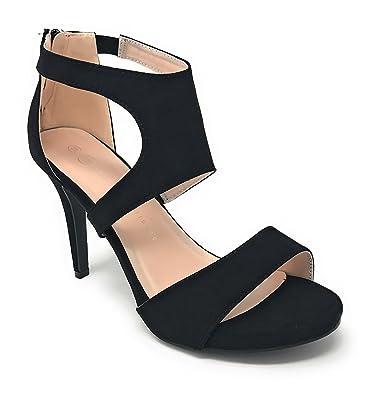 58e9726c099 Charles Albert Women s Wide-Width Peep-Toe Dressy High-Heeled Sandals in  Black