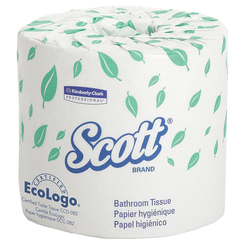 Kimberly-Clark sTCccK Scott 2-Ply Standard Roll Bathroom Tissue, White, 60 Rolls