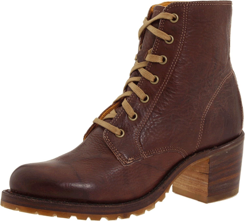 Walnut Dakota Leather-77590 Frye Women's Sabrina 6G Lace-Up Boot