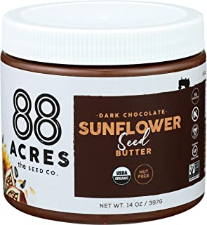 product image for 88 Acres, Dark Chocolate Sunflower Seed Butter Jar, 14 Ounce