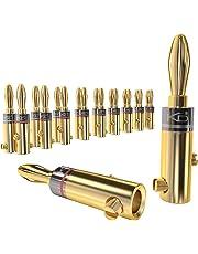 KabelDirekt Conectores banana, (conectores de 4mm², 10 parejas, bañados en oro de 24 quilates, para forma flexible el cable a altavoces Hifi, amplificadores), PRO Series