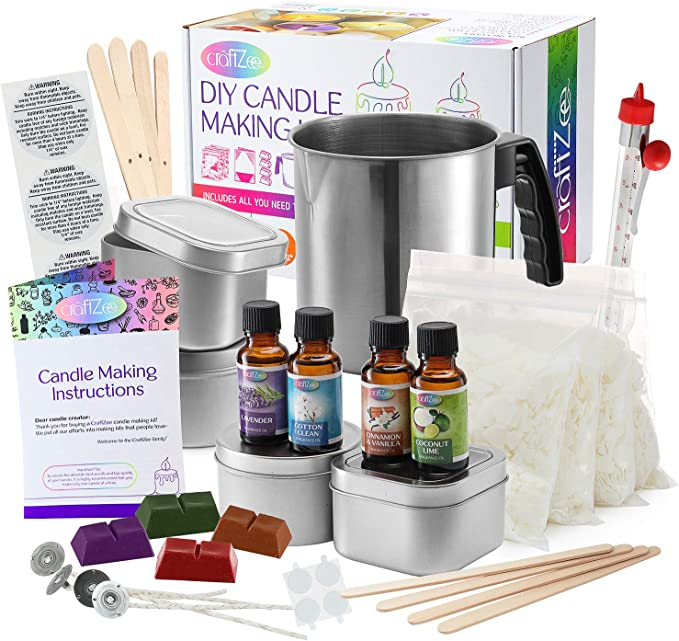 Column Candle Mould Making Kit for Adults Also can be Resin kit Homemade Soy Candle Silicone Moulds Corinthian Roman Column DIY Wax Candle Making