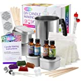 Complete DIY Candle Making Kit Supplies by CraftZee – Create Large Scented Soy Candles – Full Beginners Set Including 2 LB Wa