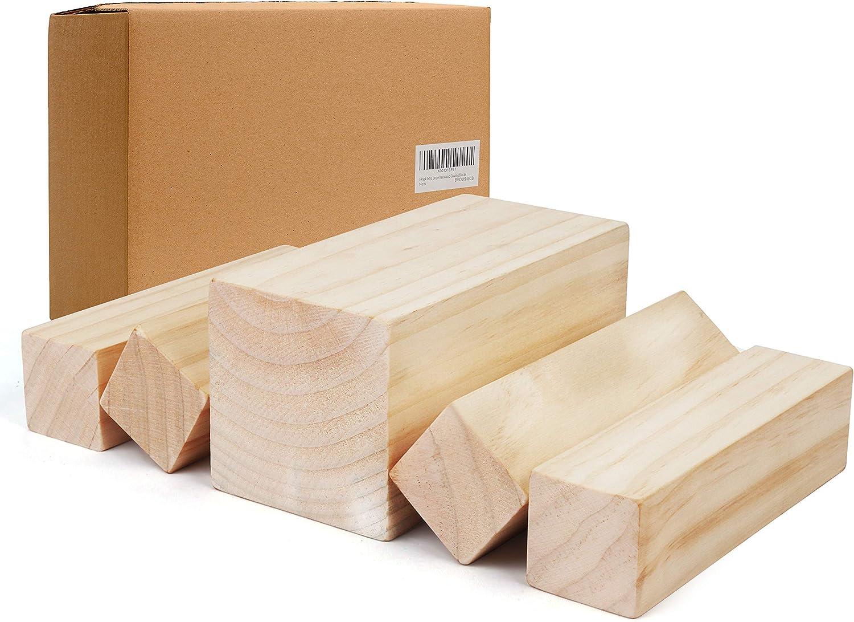 15 x 5 x 5cm, 15 x 2.5 x 2.5cm 12 piezas Madera para Tallar Principiante Tallado en Bloque de Madera para Adultos Ni/ños Manualidades