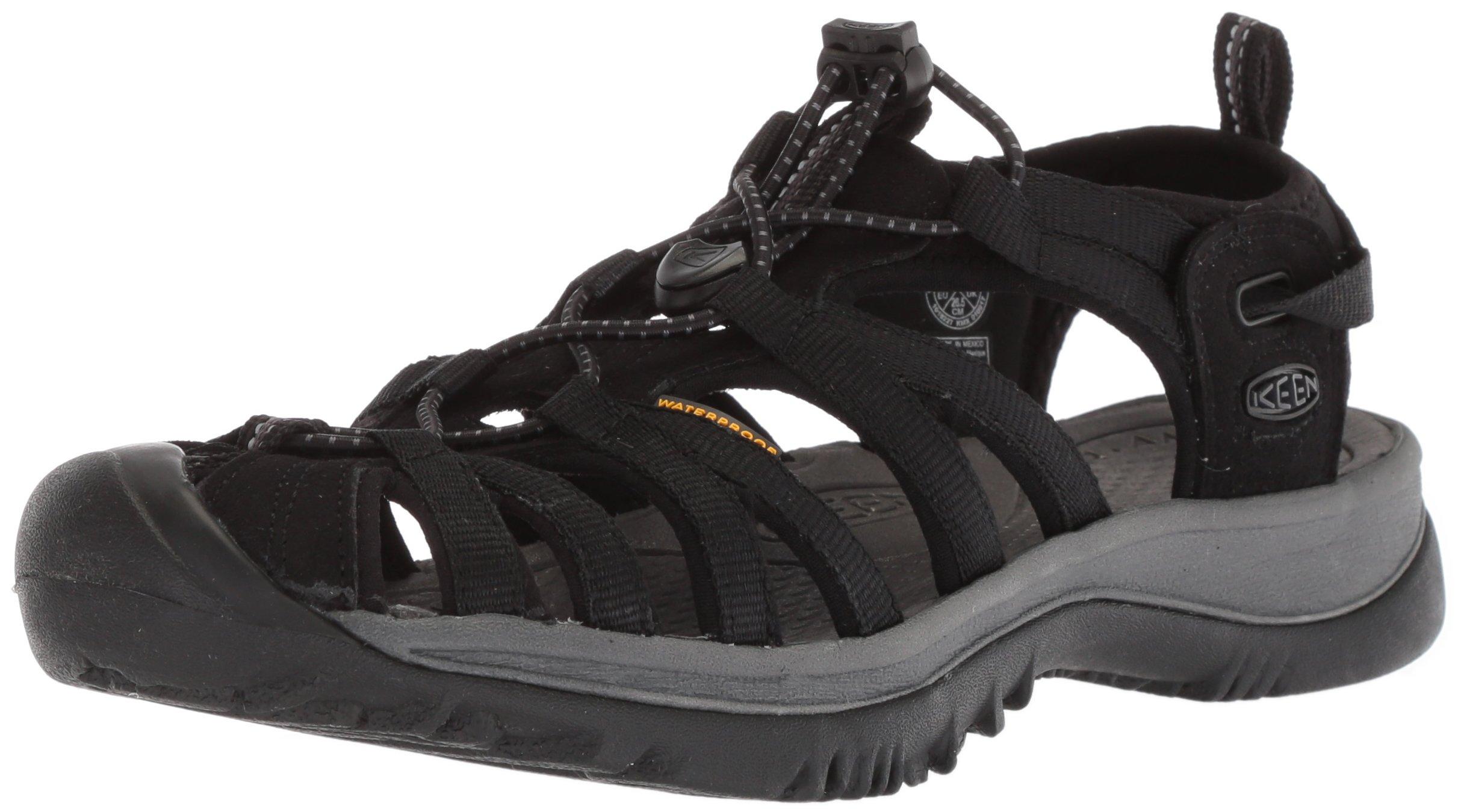 KEEN Women's Whisper-W Sandal, Black/Magnet, 9 M US