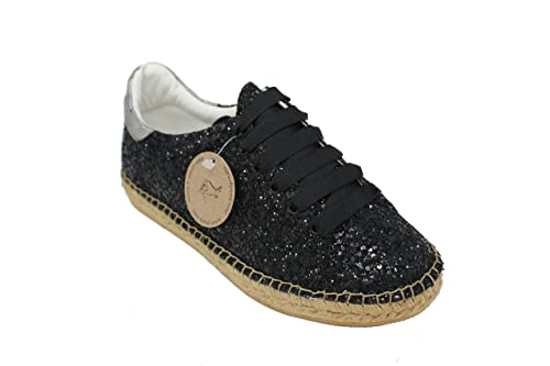 Amazon.com | macarena Espadrille Fashion Sneaker, Mar 27 Glitter Espejo Leather | Fashion Sneakers