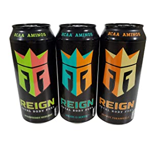 New Reign Energy Drinks Total Body Fuel Flavors (3 Flavor Variety Pack, 12 Cans)