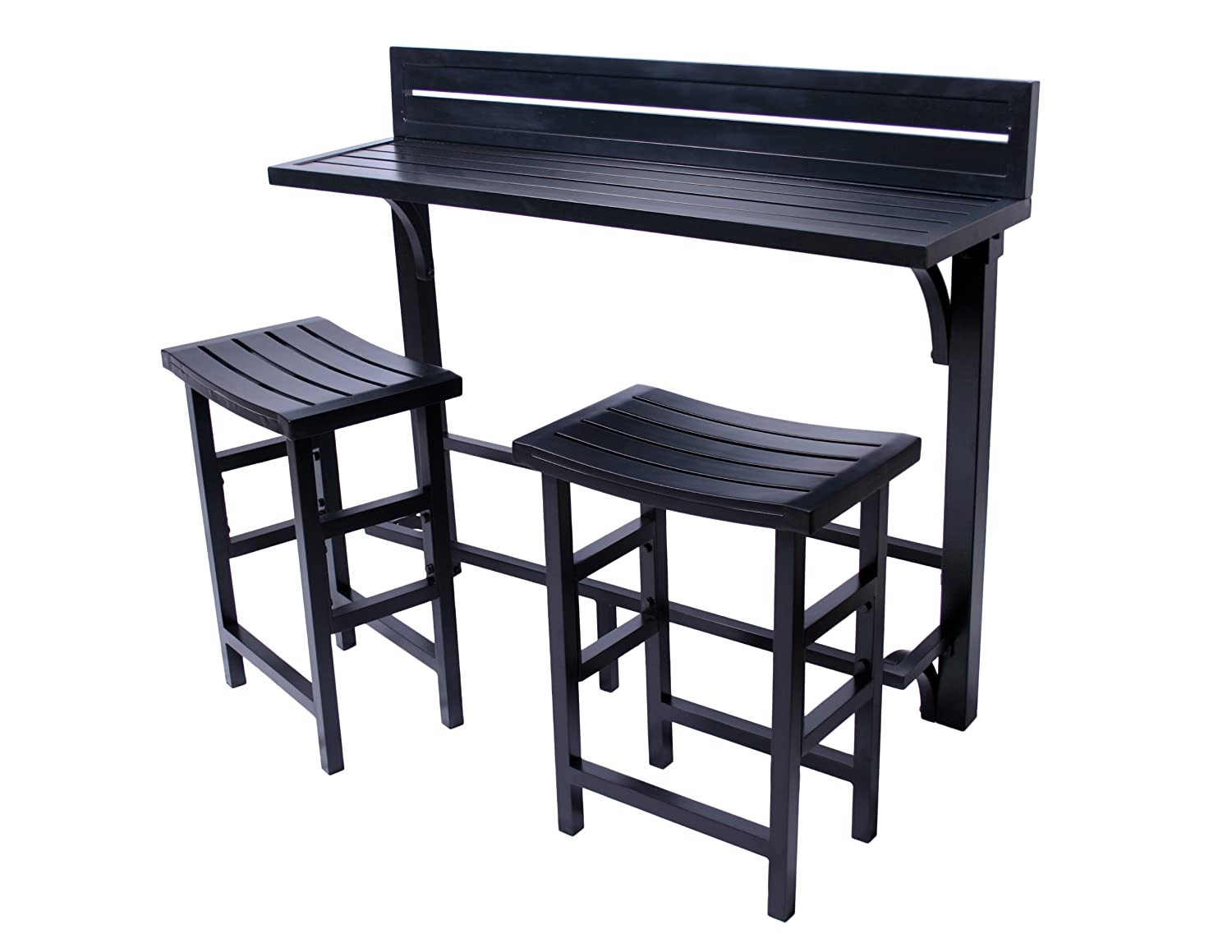 amazon com miyu furniture 3 piece balcony bar onyx garden
