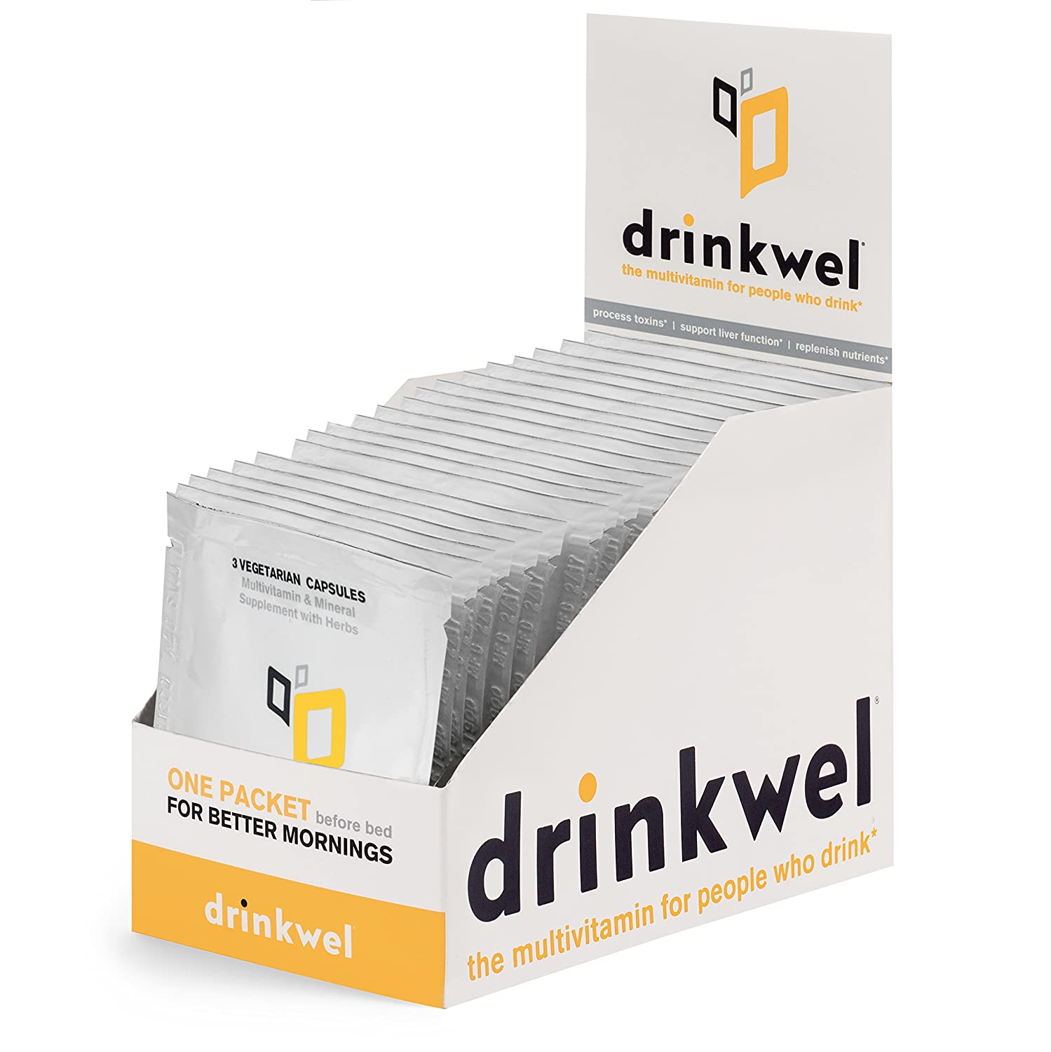 Drinkwel for Hangovers, Single Serving to-Go Packet 20 Pack