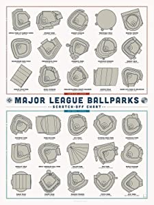 Pop Chart - Poster Prints (12x16) - Prints All About Ballparks - Printed on Thick Archival Stock - Features Fun Facts About Your Favorite Things
