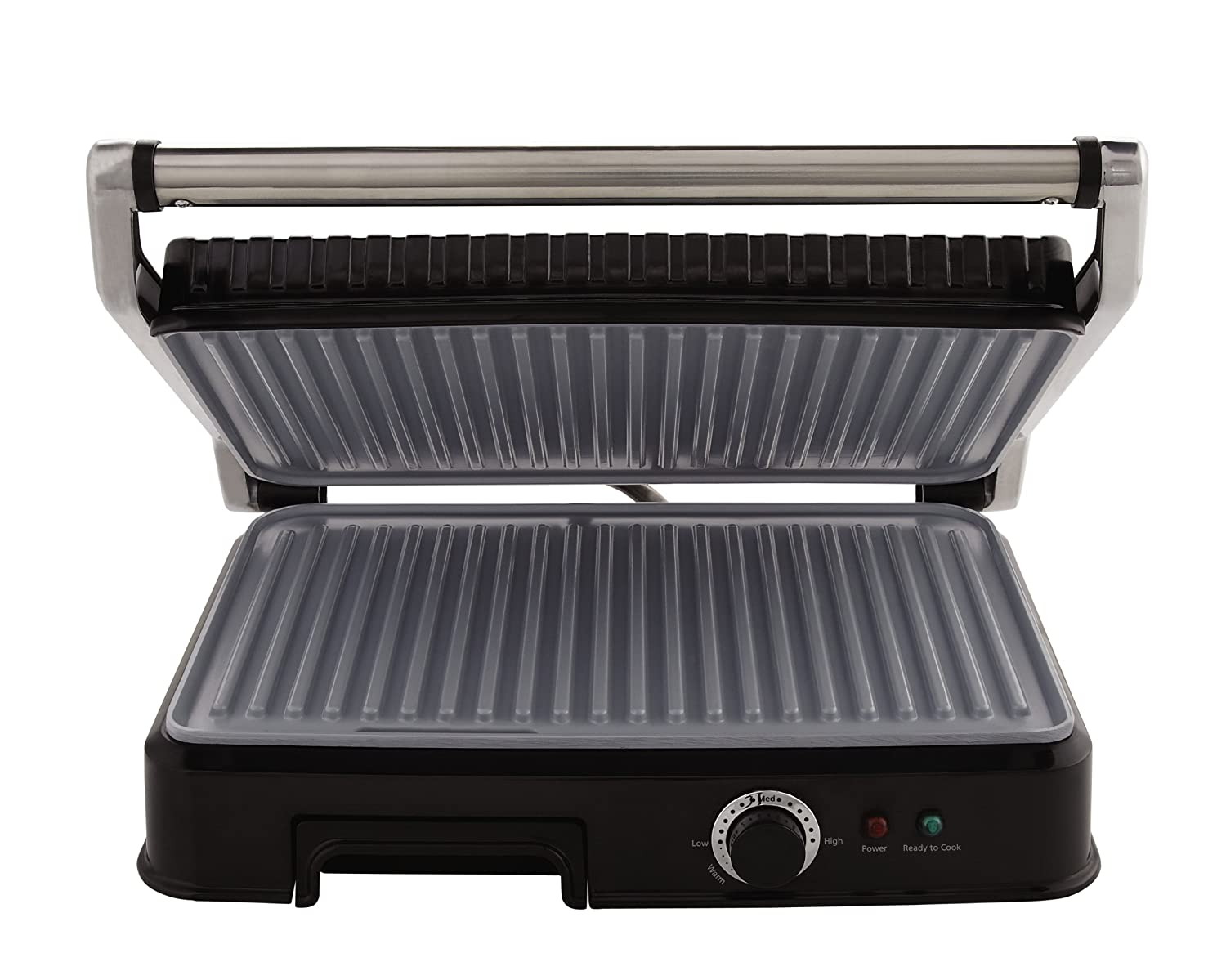 Oster Extra Large Titanium-Infused DuraCeramic Panini Maker and Indoor Grill, Black (CKSTPM6001-TECO) Jarden Consumer Solutions CKSTPM6001-ECO
