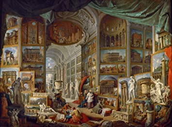 NAKBINX Jigsaw Puzzles for Adults 1000 Pieces - Famous Painting Giovanni Paolo Panini Gallery of The Views of Ancient Rome Game Gift for Teens Educational Toy for Kids Family Wall Décor