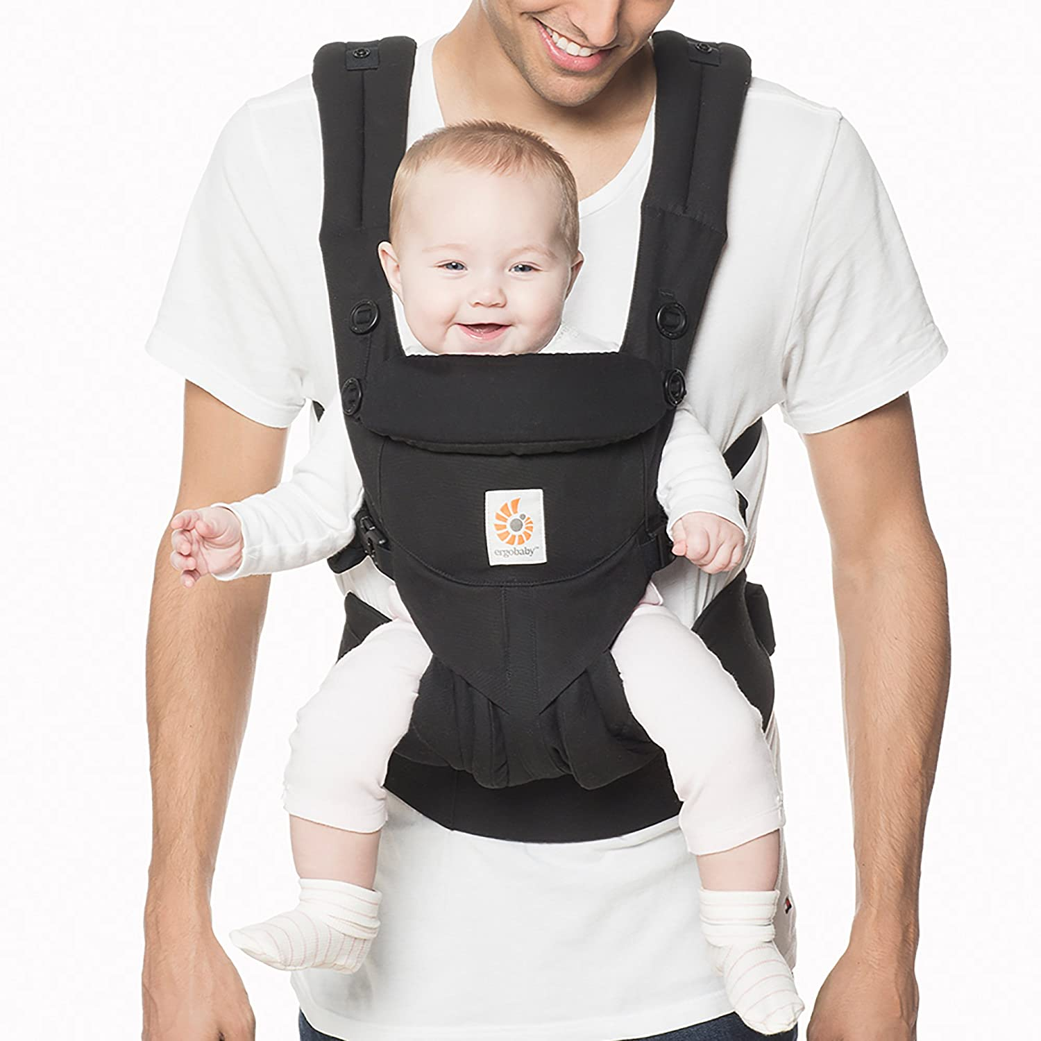 Ergobaby OMNI 360 All-in-One Ergonomic Baby Carrier, All Carry Positions, Newborn to Toddler, Pure Black