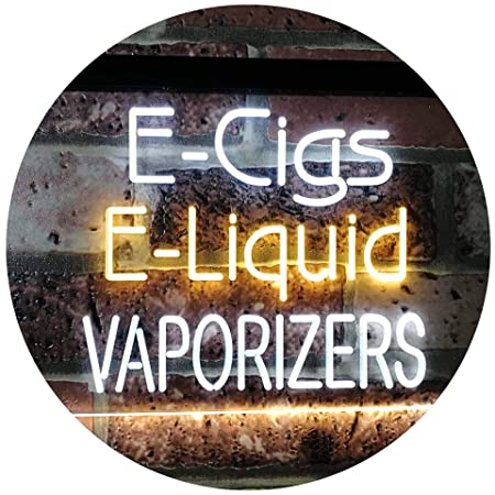AdvpPro 2C Cigar Liquid Vaporizers Shop Indoor Display Dual Color LED Neon Sign White & Yellow 300mm x 210mm st6s32-i2562-wy