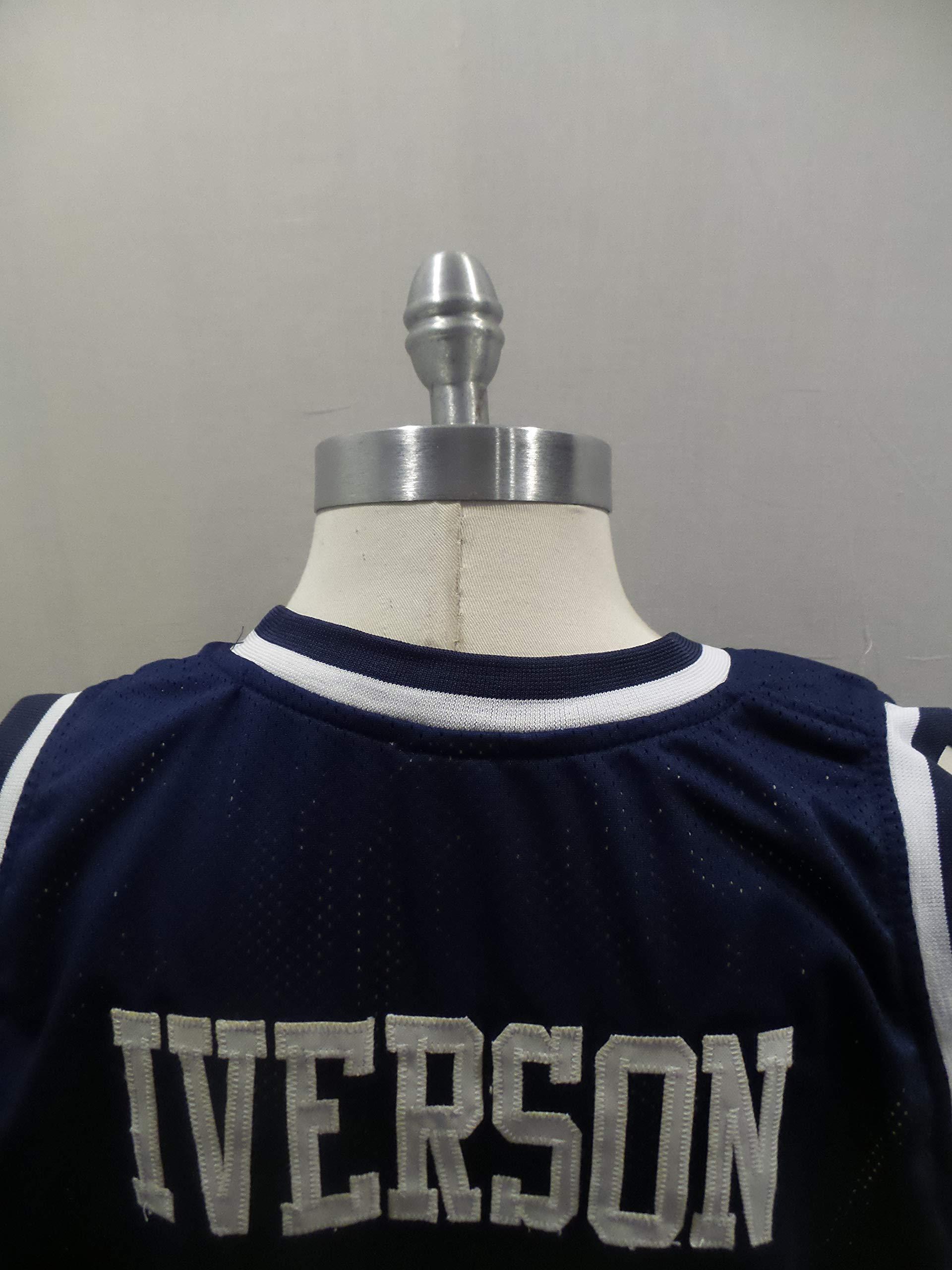 Allen Iverson Signed Georgetown Blue Autographed Novelty Custom Jersey JSA