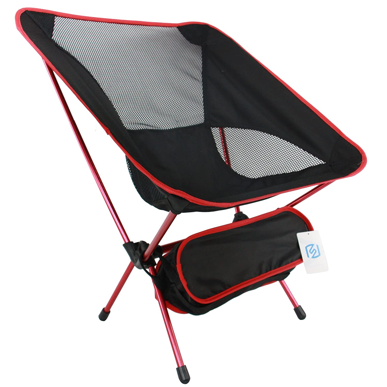 ashviee Easy Chair、超軽量ポータブル折りたたみキャンプ椅子、スーパーポータブル軽量アウトドアピクニック釣り旅行キャンプハイキングBBQ最適スポーツ レッド B01N3260DD  レッド